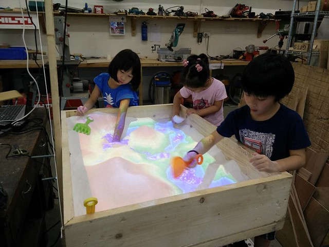 Sandbox for Geography, interactive installation