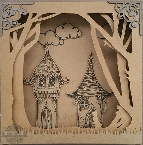 """Fairy Village"" Shadow Box"