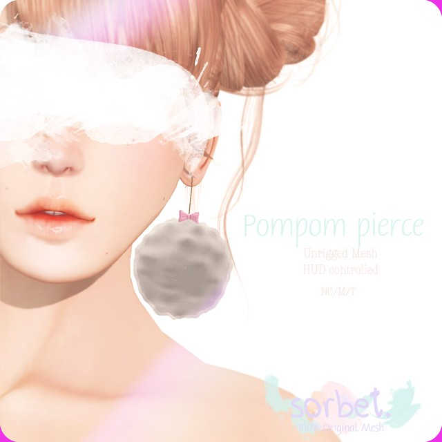 Sorbet. Pompom Pierce [Gami Gacha wheel exclusive]