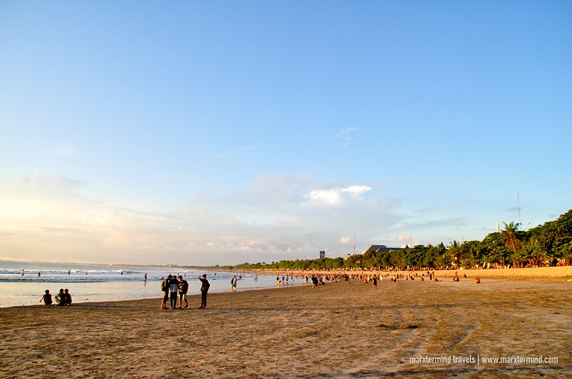 Tourists Flocked Kuta Beach in Bali
