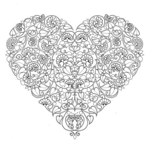 Free Heart Mandala Coloring Pages