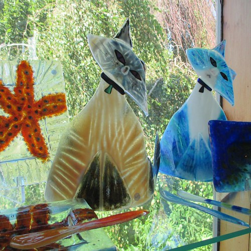 Glass cats at The Dunes #pei #brackleybeach #thedunes #glass #cats #caturday #catsofinstagram