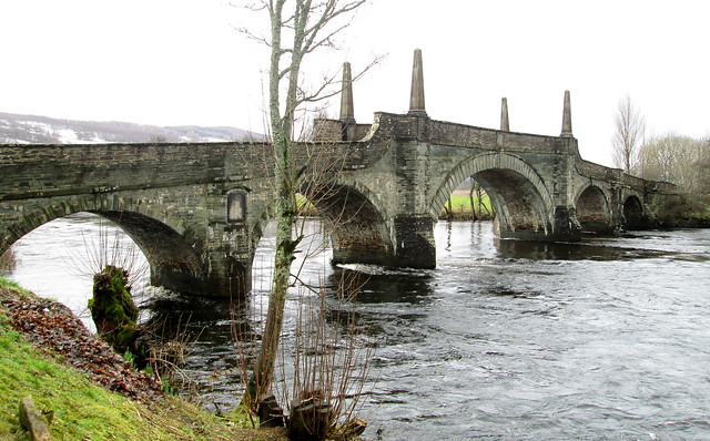 Wade's Bridge, Aberfeldy from east