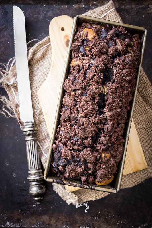 Chocolate Swirl Crumb Cake