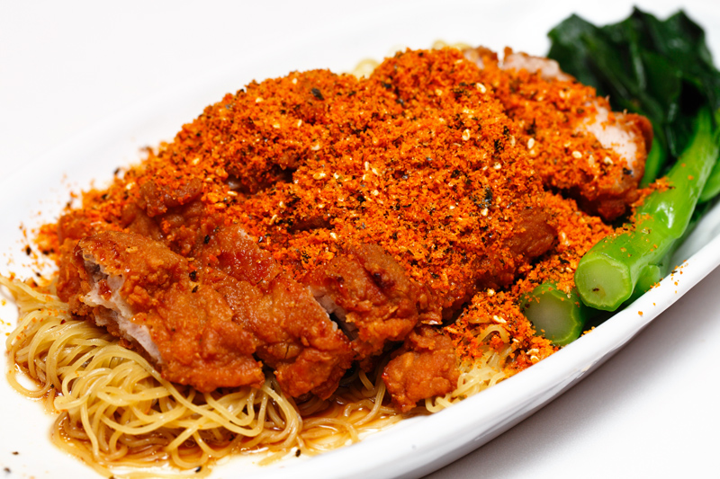 Gold Dusted Chicken Cutlet Noodle