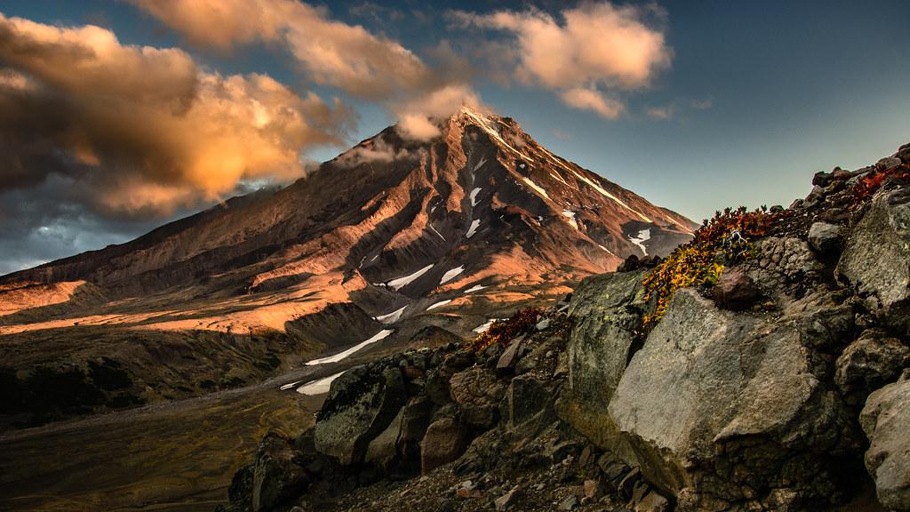 Volcano Koryaksky (Kamchatka) at Sunrise