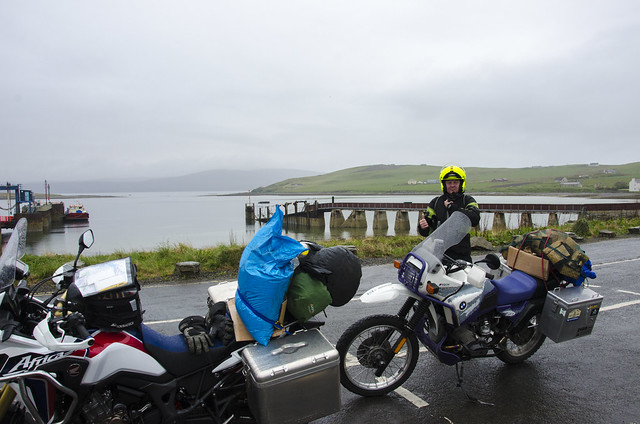 Africa Twin and R100GS PD on the way to Hoy, Orkney.