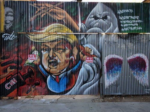 Trump mural, Downtown LA, Los Angeles, California, USA