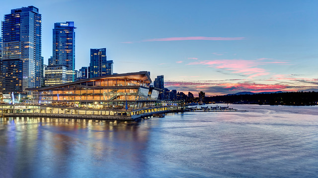Vancouver Convention Centre Sunset