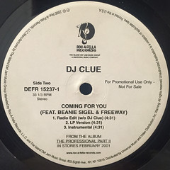 DJ CLUE:BACK 2 LIFE 2001(LABEL SIDE-B)