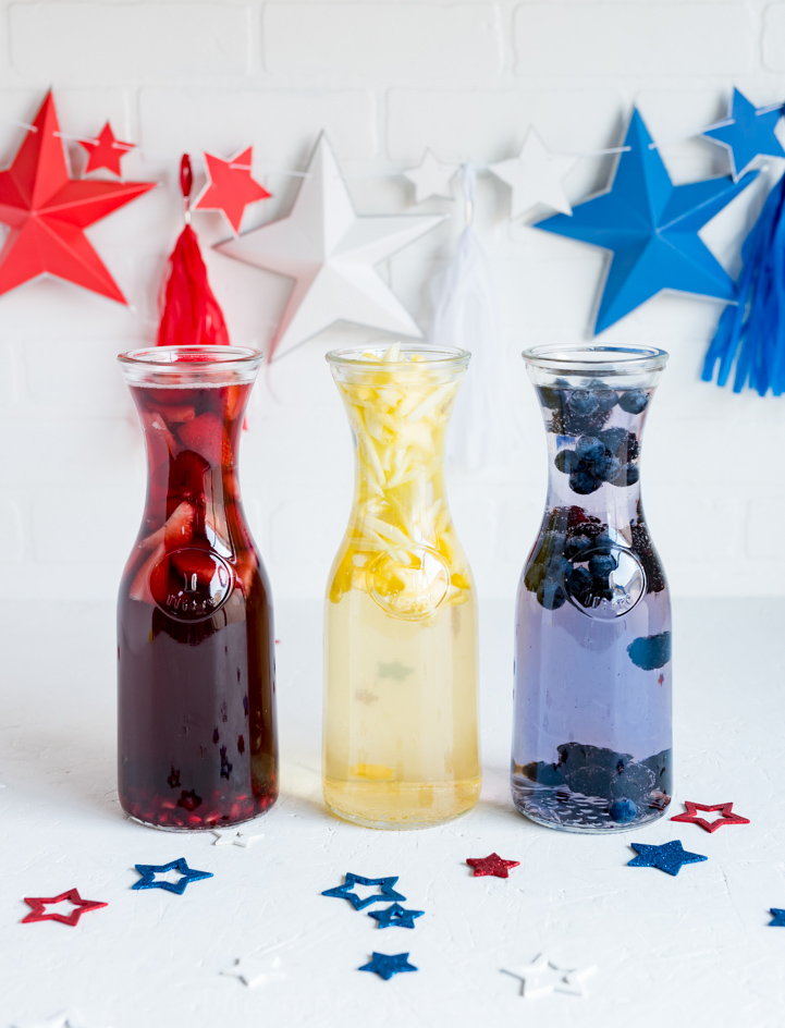 Red, White and Blue Sangrias www.pineappleandcoconut.com #ad #worldmarkettribe #fourthofjuly #discover