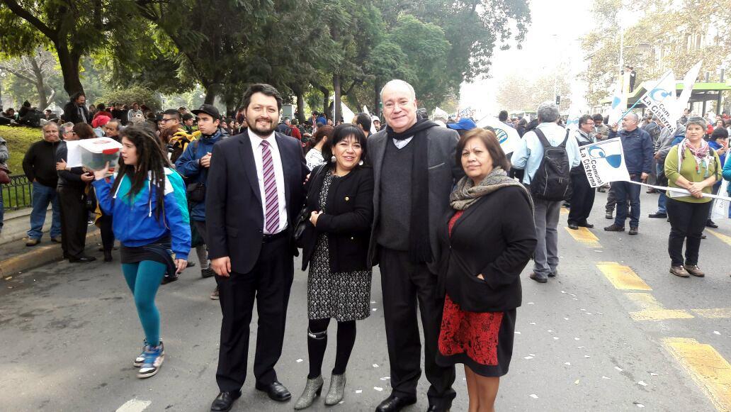 Dirigentes FTH en Jornada Nacional de Movilización y Protesta - 01 Mayo 2016