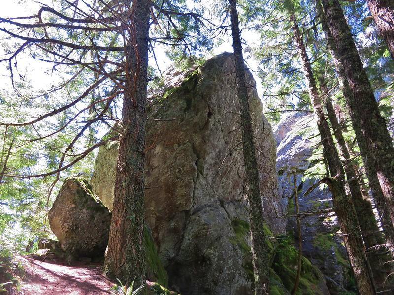 Boulder near Rooster Rock