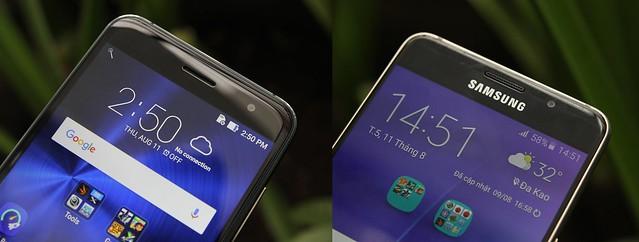 """[So sánh] Samsung Galaxy A5 2016 vs Asus Zenfone 3 5.2"""" - P1: Thiết kế bên ngoài, cấu hình và Pin - 136880"""