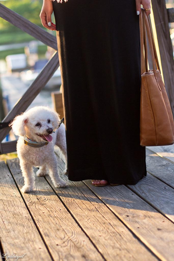 black maxi dress, white scarf, brown leather tote-7.jpg