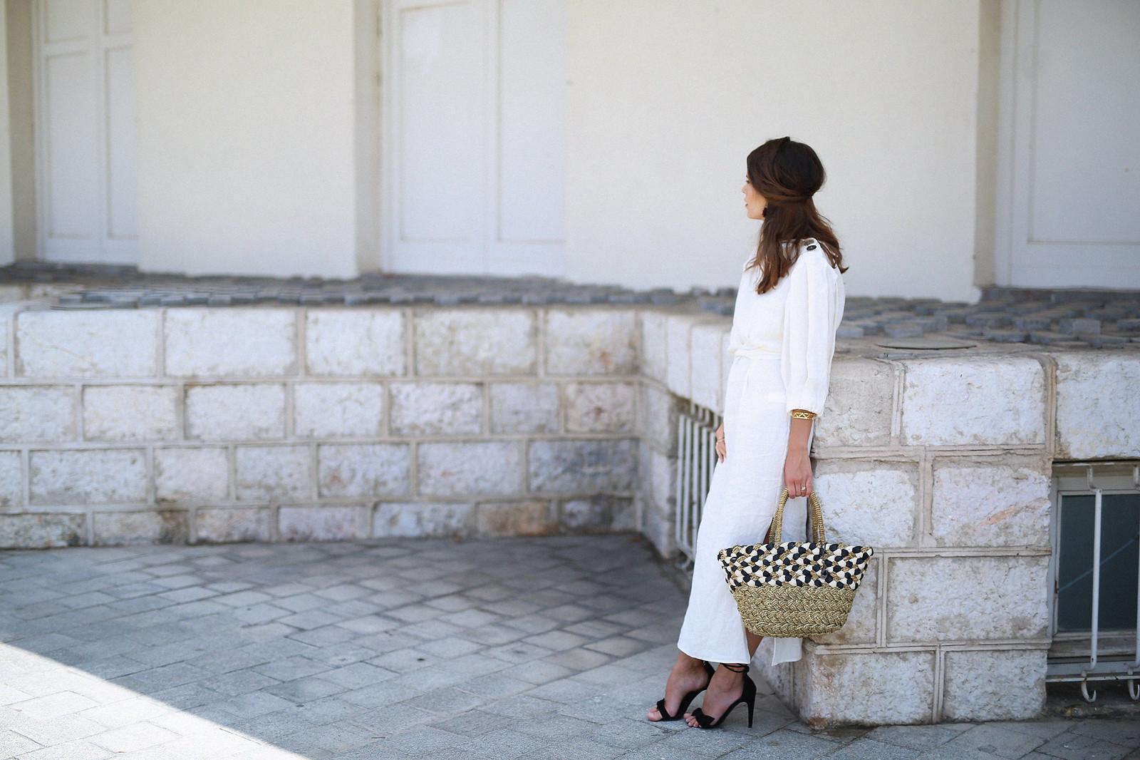 jessie chanes seams for a desire zara vestido lino capazo rafia-3