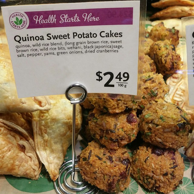 2016-Jul-9 Whole Foods - quinoa sweet potato cakes