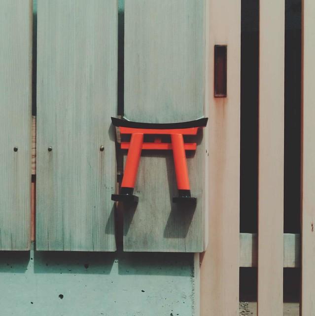 Miniature torii gate