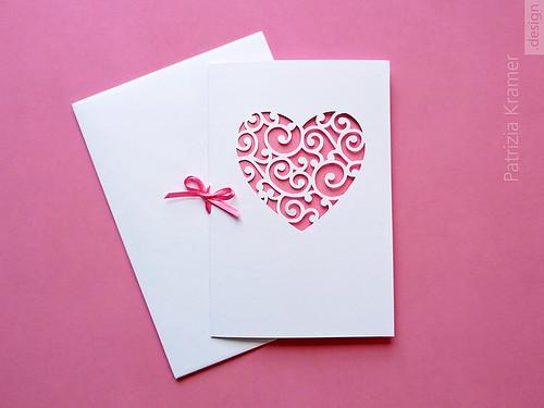 Karte | Herz in Rosé · Heart in Pink