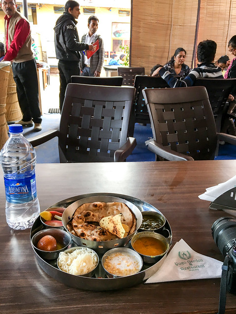 My first thali in India!, Jaipur ジャイプールでインド最初のターリー