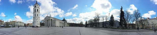 Panorama Katedros aikštė Vilniuje, Kathedrale Vilnius