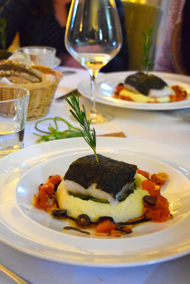 Olive Crusted Cod at Manoir de Malagorse | www.rachelphipps.com @rachelphipps