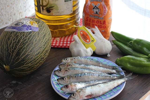 Migas de semola con melon y sardinas (8)