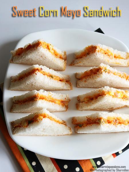 Sweet Corn Mayo Sandwich Recipe