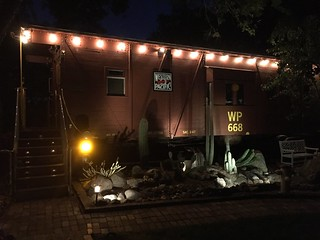 WP668 Caboose at night 26 June 2016