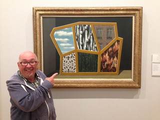 Me and Magritte, National Museum of Wales, Cardiff