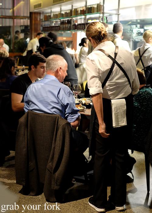 Dining room at Mercado restaurant, Sydney