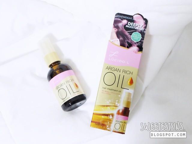 lucido-l argan rich oil hair treatment oil