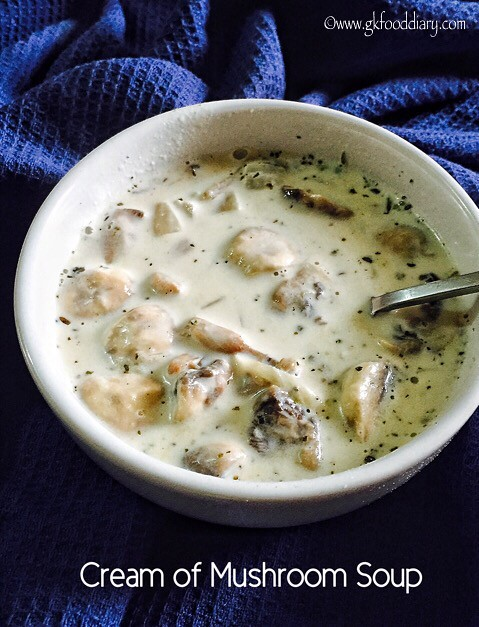 Mushroom Soup Recipe for Toddlers and Kids2