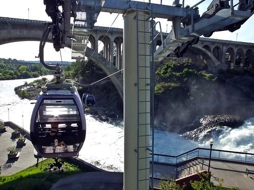 Skyride over Lower Spokane Falls