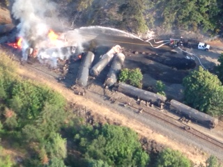 Oregon Train Derailment