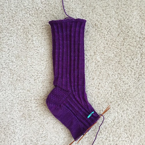 Twisted sock. Right sock