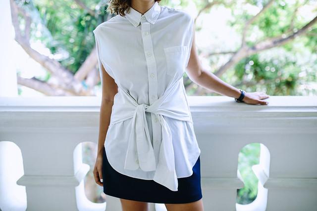 DIY Tie Front Shirt