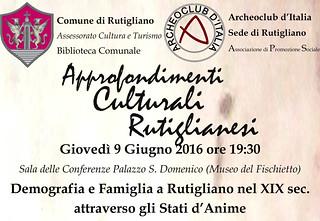 Appuntamenti culturali rutiglianese Giugno 2016 -1