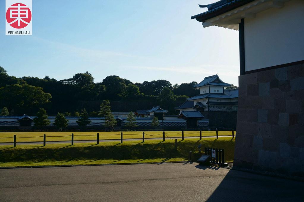 Цуру-Но-Мару Добэй (鶴の丸土塀), Город Канадзава, Kanazawa, 金沢, Замок Канадзава, 金沢城