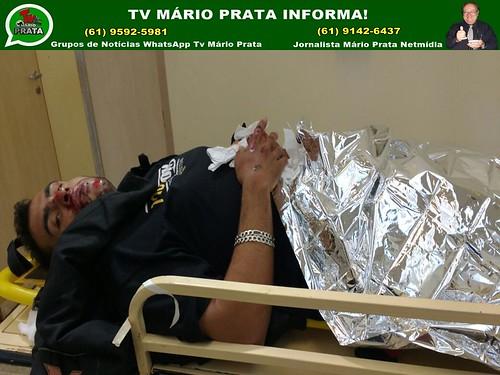 PRATINHA, FILHO DO JORNALISTA MÁRIO PRATA, SOFRE ACIDENTE DE MOTO NA BR-040