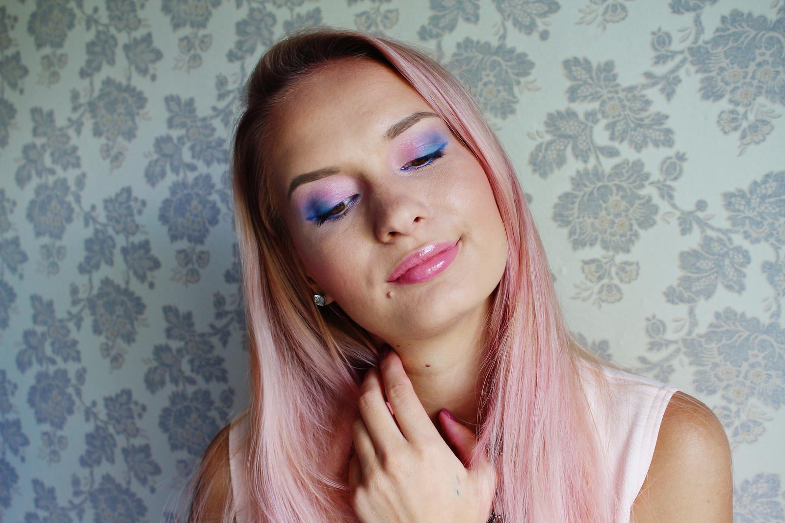 Pastel colour makeup