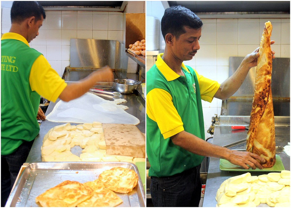 R K Eating House tissue prata chef