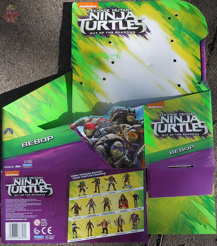 "'TEENAGE MUTANT NINJA TURTLES: OUT OF THE SHADOWS' :: 11"" Movie BEBOP box (( 2016 ))"