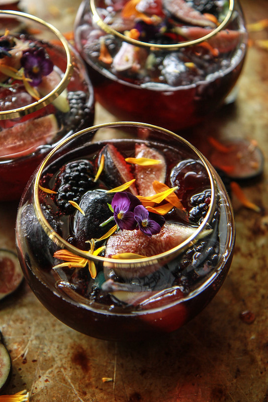 Blackberry Fig and Bourbon Punch