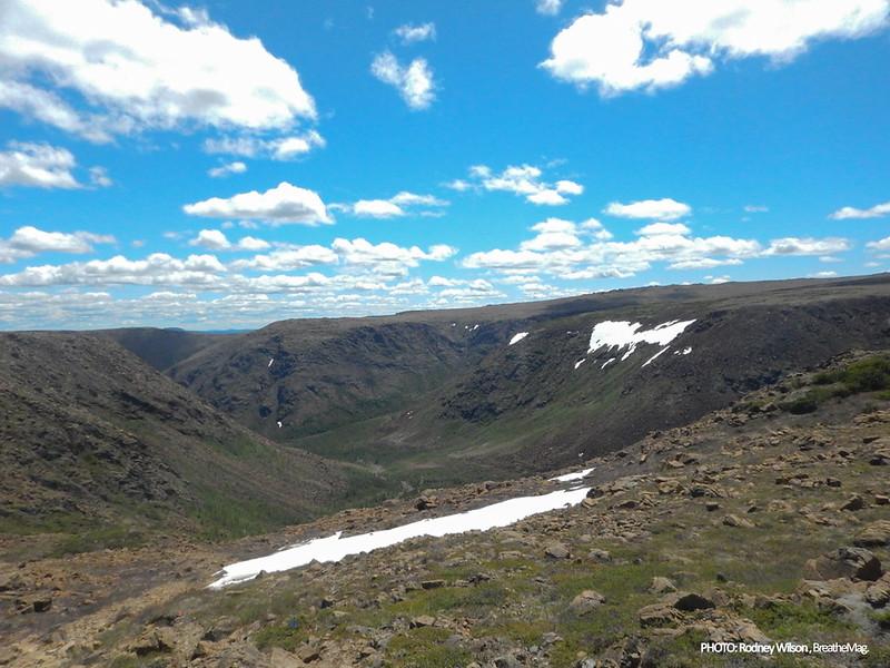 Snowfield crossing in the distance (backside of Mt Albert).