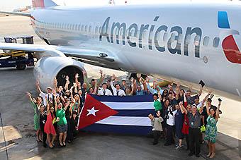 American Airlines bandera cubana (American)