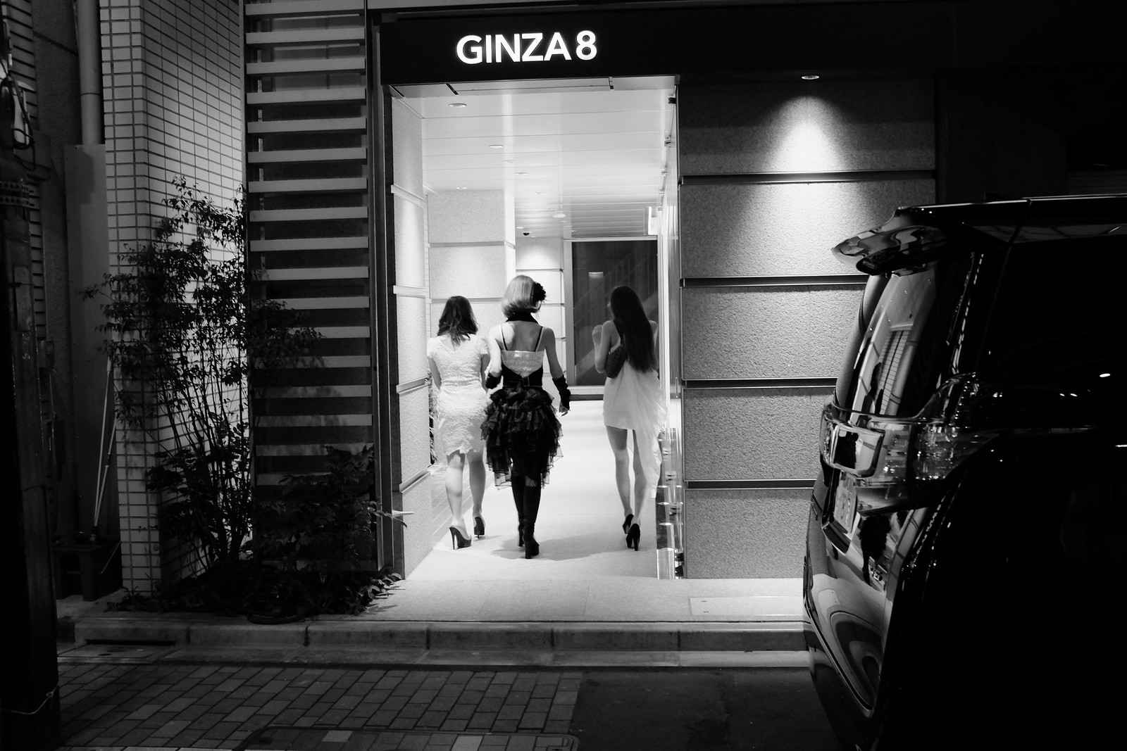 The Ginza night photos in Tokyo, Japan.