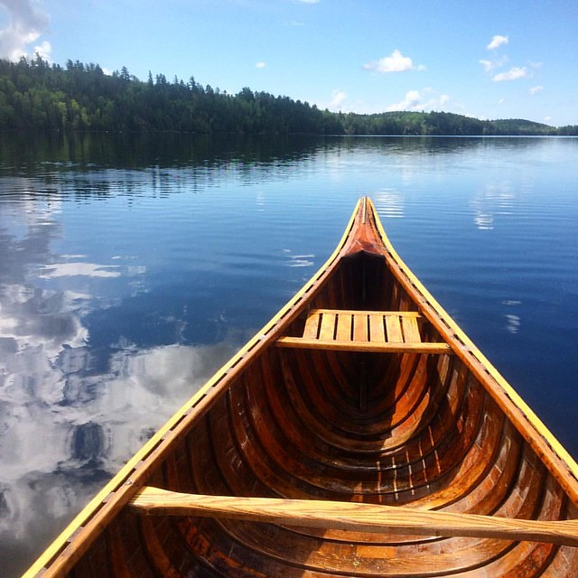 Canoeing on Burntside Lake