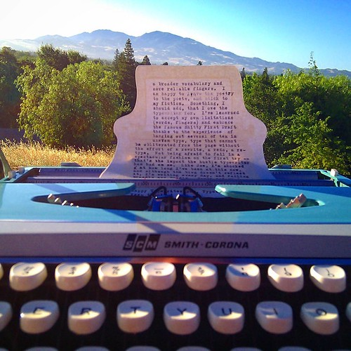 Typewiter Day 2016 #typewriterday #worldtypewriterday #internationaltypewriterday #june23 #publictyping #typosphere #smithcorona #corsair #analog #mtdiablo #lasjuntas #sunrise #cali #clickthing
