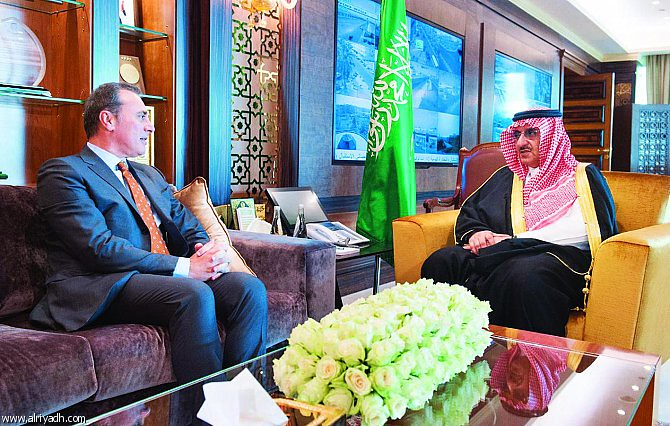Crown Prince Mohamed b Nayef discusses Italy/KSA relations and upcoming visits by Italian Ministers with Amb Ferrari